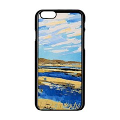 The Landscape Water Blue Painting Apple Iphone 6/6s Black Enamel Case