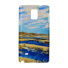 The Landscape Water Blue Painting Samsung Galaxy Note 4 Hardshell Case