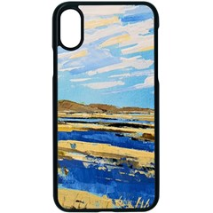 The Landscape Water Blue Painting Apple Iphone Xs Seamless Case (black) by Pakrebo