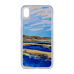 The Landscape Water Blue Painting Apple Iphone Xr Seamless Case (white)