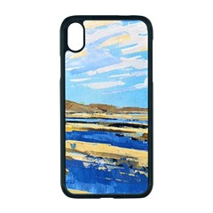 The Landscape Water Blue Painting Apple Iphone Xr Seamless Case (black)