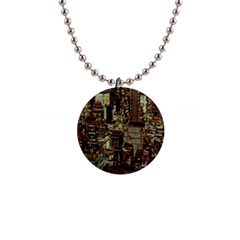 New York City Skyscrapers 1  Button Necklace