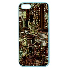 New York City Skyscrapers Apple Seamless Iphone 5 Case (color)