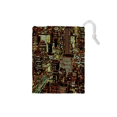 New York City Skyscrapers Drawstring Pouch (small)