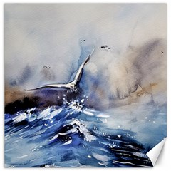 Art Painting Sea Storm Seagull Canvas 16  X 16