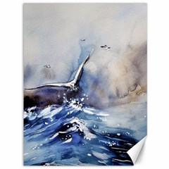 Art Painting Sea Storm Seagull Canvas 36  X 48