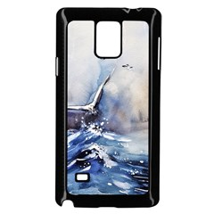 Art Painting Sea Storm Seagull Samsung Galaxy Note 4 Case (black) by Pakrebo