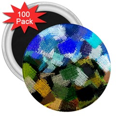Texture Color Colors Network 3  Magnets (100 Pack) by Pakrebo