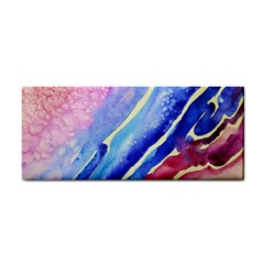 Painting Abstract Blue Pink Spots Hand Towel by Pakrebo
