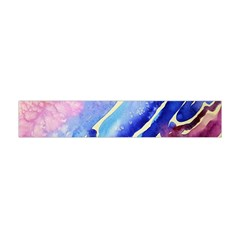 Painting Abstract Blue Pink Spots Flano Scarf (mini) by Pakrebo