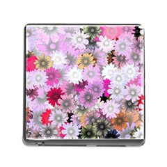 Flower Flowers Carta Da Parati Memory Card Reader (square 5 Slot)