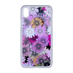 Flower Flowers Carta Da Parati Apple Iphone Xr Seamless Case (white)