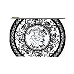 Dear Mom  Cosmetic Bag (large) by TimelessFashion
