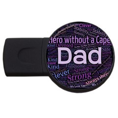 Dad! Usb Flash Drive Round (4 Gb) by TimelessDesigns