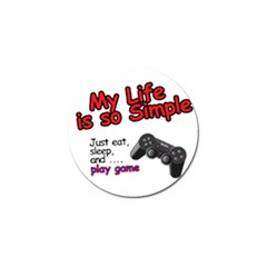 My Life Is Simple Golf Ball Marker (4 Pack) by Ergi2000