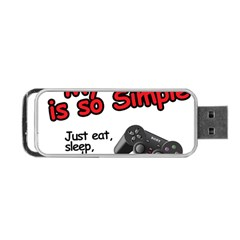 My Life Is Simple Portable Usb Flash (one Side) by Ergi2000