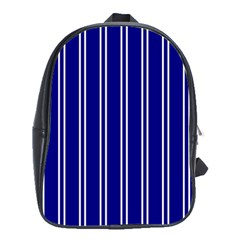 Nice Stripes In Blue School Bag (xl)