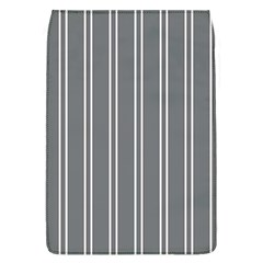 Nice Stripes In Steel Grey Removable Flap Cover (l)