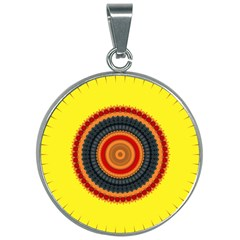 Art Decoration Wallpaper Bright 30mm Round Necklace