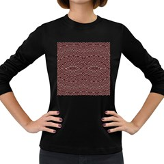 Design Pattern Abstract Desktop Women s Long Sleeve Dark T Shirt