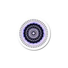 Design Circular Pattern Mandala Golf Ball Marker