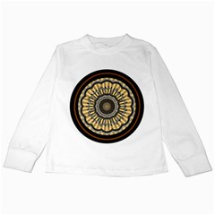 Mandala Pattern Round Ethnic Kids Long Sleeve T Shirts by Pakrebo