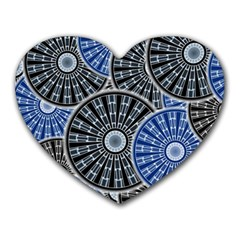 Cog Gear Wheel Engineering Round Heart Mousepads