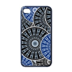 Cog Gear Wheel Engineering Round Apple Iphone 4 Case (black)