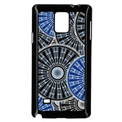 Cog Gear Wheel Engineering Round Samsung Galaxy Note 4 Case (black)