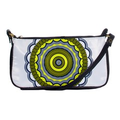 Mandala Pattern Round Ethnic Shoulder Clutch Bag