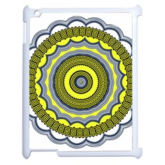 Mandala Pattern Round Ethnic Apple Ipad 2 Case (white) by Pakrebo