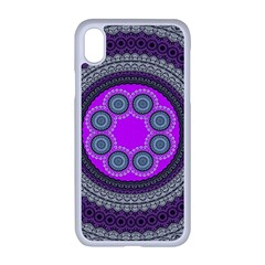 Round Pattern Ethnic Design Apple Iphone Xr Seamless Case (white)