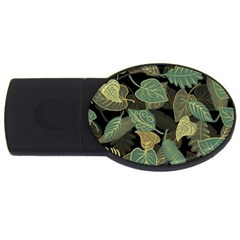 Autumn Fallen Leaves Dried Leaves Usb Flash Drive Oval (2 Gb)