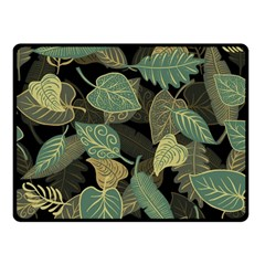 Autumn Fallen Leaves Dried Leaves Double Sided Fleece Blanket (small)  by Pakrebo