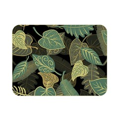 Autumn Fallen Leaves Dried Leaves Double Sided Flano Blanket (mini)