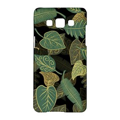 Autumn Fallen Leaves Dried Leaves Samsung Galaxy A5 Hardshell Case  by Pakrebo