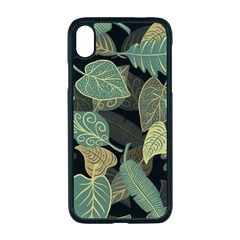 Autumn Fallen Leaves Dried Leaves Apple Iphone Xr Seamless Case (black)