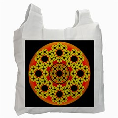 Fractal Art Design Pattern Recycle Bag (two Side)