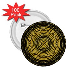 Design Circular Shape Round 2 25  Buttons (100 Pack)