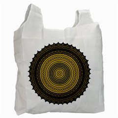 Design Circular Shape Round Recycle Bag (one Side)