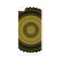 Design Circular Shape Round Apple Iphone 4 Case (white) by Pakrebo