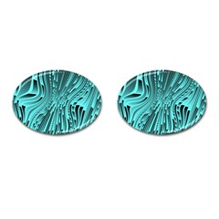Design Backdrop Abstract Wallpaper Cufflinks (oval)
