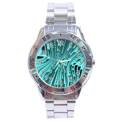 Design Backdrop Abstract Wallpaper Stainless Steel Analogue Watch by Pakrebo