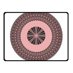 Design Circular Aztec Symbol Fleece Blanket (small)