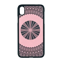 Design Circular Aztec Symbol Apple Iphone Xr Seamless Case (black)