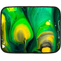 Art Abstract Artistically Painting Fleece Blanket (mini)