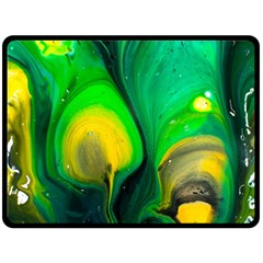 Art Abstract Artistically Painting Fleece Blanket (large)