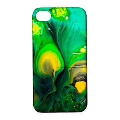 Art Abstract Artistically Painting Apple Iphone 4/4s Hardshell Case With Stand