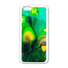 Art Abstract Artistically Painting Apple Iphone 6/6s White Enamel Case