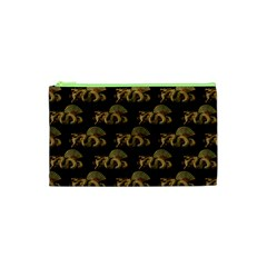 Dragon Motif Print Pattern Cosmetic Bag (xs) by dflcprintsclothing
